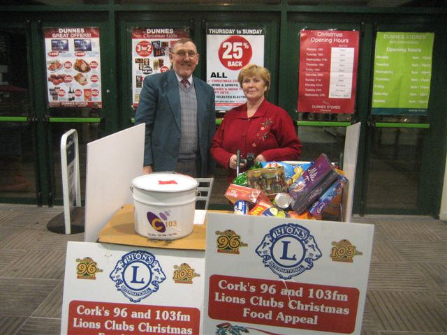 Cork Lions Club Christmas food appeal